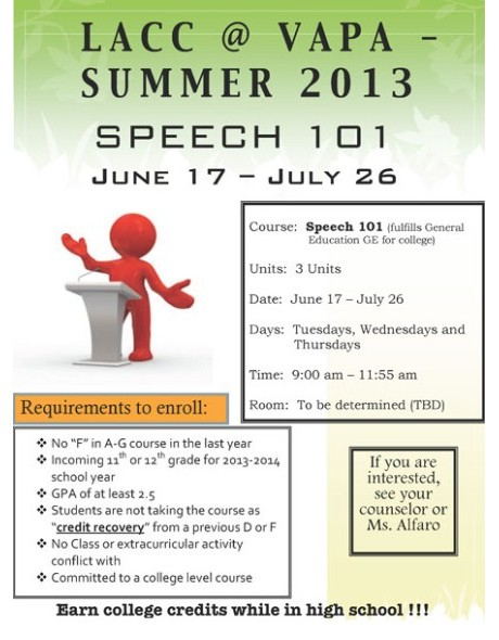 2013 LACC Summer Speech 101