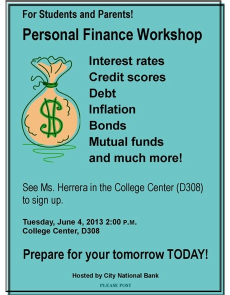 2013 Personal Finance Workshop